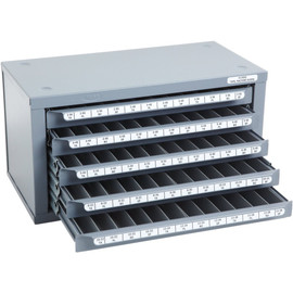 Huot 13550 | 2-56 to 12-28 Machine Screw Size Tap Dispenser Organizer Cabinet
