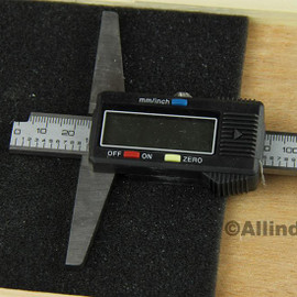 """All Industrial 51154   0-12"""" Electronic Depth Gage 4"""" Base 0.0005"""" Resolution Digital Gage Spc Output"""