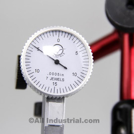 "All Industrial 52032 | .030"" Dial Test Indicator & 3D Mini Magnetic Base Holder Inspection Set Combo"