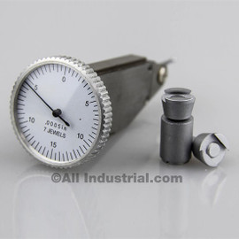 "All Industrial 52040 | .030"" Vertical Dial Test Indicator 0.0005"" Graduation White Face Jewel"