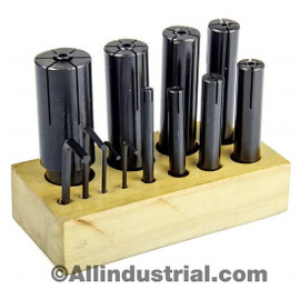 "All Industrial 41199 | 8pc High Precision Expanding Arbors Set Mandrels 1/4"" to 1-1/4"" Lathe Milling"
