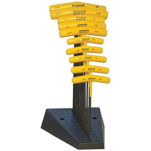 Bondhus 13190 | 10pc Cushioned Grip T-Handle Hex Tool Set