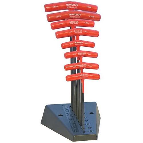 Bondhus 13189   8pc Metric Cushioned Grip T-Handle Hex Tool Set