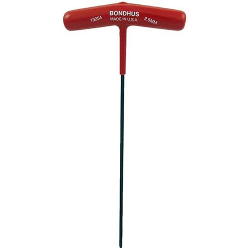 Bondhus 13256 | 3mm Cushioned Grip T-Handle Hex Tool