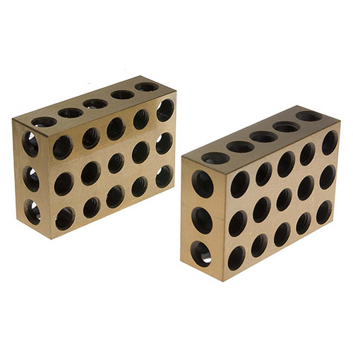 All Industrial 55510 | 1 Pair Ultra Precision 1-2-3 Blocks 23 Holes .0001""