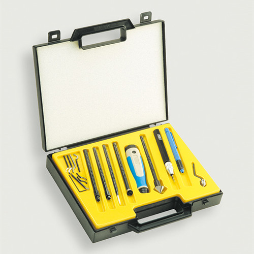 Noga NG9400 | Gold 20pc Machinist Deburring Kit With Handle, Holders & Blades