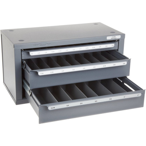 "Huot 13350 | 1/8"" to 1/2"" End Mill Dispenser Organizer Cabinet"