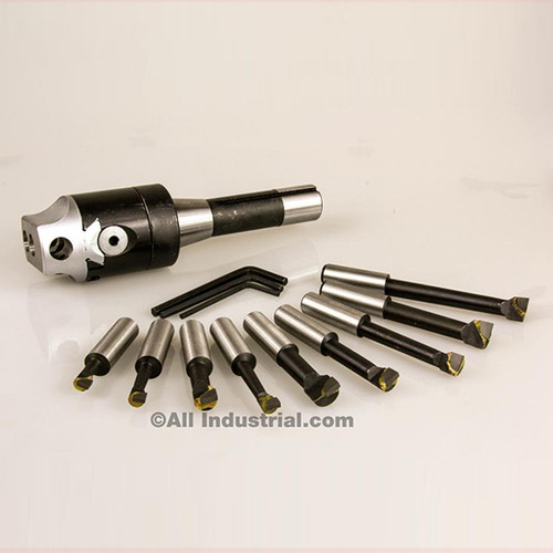 "All Industrial 48106 | 2"" Boring Combo Set Includes Head R8 Shank & 1/2"" Bars Kit for Bridgeport Mill"