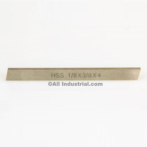 "All Industrial 19750 | 1/8"" X 3/8"" X 4"" HSS Tool Bit Rectangular Lathe Fly Cutter Mill Blank"