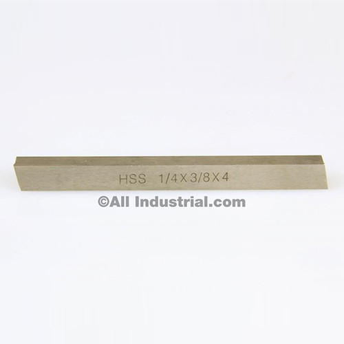 "All Industrial 19758 | 1/4"" X 3/8"" X 4"" HSS Tool Bit Rectangular Lathe Fly Cutter Mill Blank"