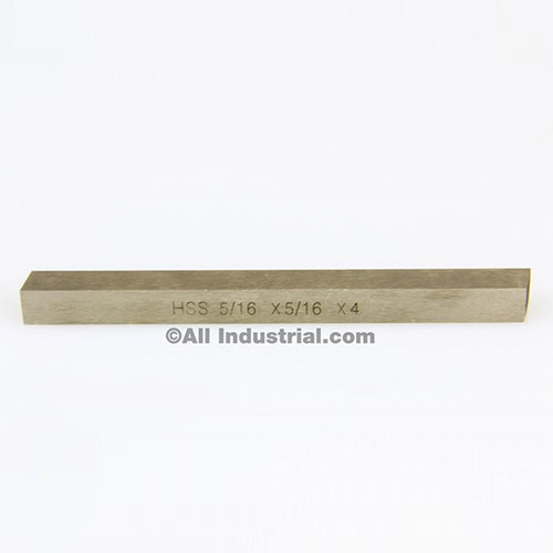 "All Industrial 19762 | 5/16"" X 5/16"" X 4"" HSS Tool Bit Rectangular Lathe Fly Cutter Mill Blank"