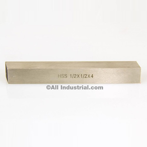 "All Industrial 19766 | 1/2"" X 1/2"" X 4"" HSS Tool Bit Square Lathe Fly Cutter Mill Blank"