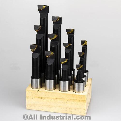 "All Industrial 11924 | 5/8"" Boring Bar Set Pro Quality 12pcs Carbide Tipped Bars 5/8"" Shank Lathe Tool"