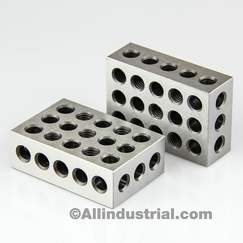 "All Industrial 55540 | 2-4-6 Blocks 23 Holes Matched Pair Ultra Precision .0001"" Machinist 246 Jig"