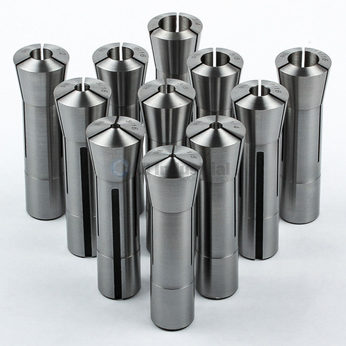 "All Industrial 41050 | 11pc R8 Collet Set 1/8"" to 3/4"" Fractional High Precision for Bridgeport"