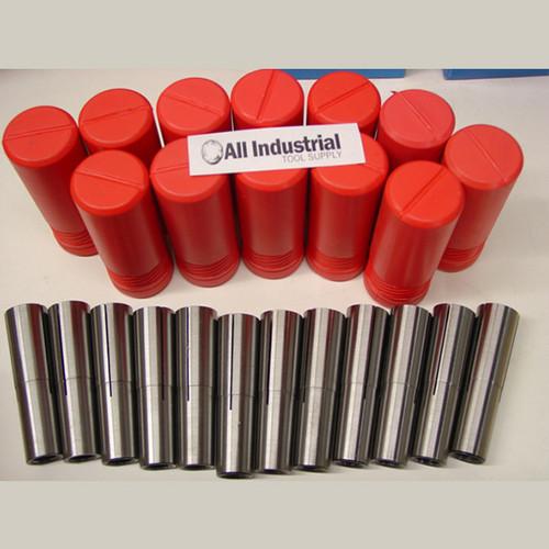 "All Industrial 41320   #3 Morse Taper Collet 12pc Set 1/8"" - 3/4"" 3MT MT3 3/16 1/4 3/8 1/2 5/8 Chuck"