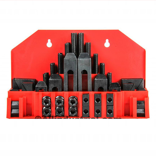 "All Industrial 48015 | 58pc Pro-Series 3/4"" T-Slot Clamping Kit Bridgeport Mill Set Up Set 5/8-11"