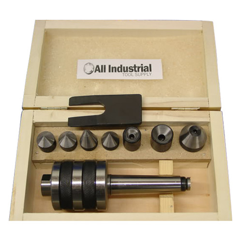 All Industrial 46011 | MT1 Live Center Set Morse Taper 1MT Triple Bearing Lathe Medium Duty CNC