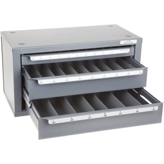 Huot 13050 | Letter Size Drill Dispenser Chest Cabinet Organizer Size A-Z
