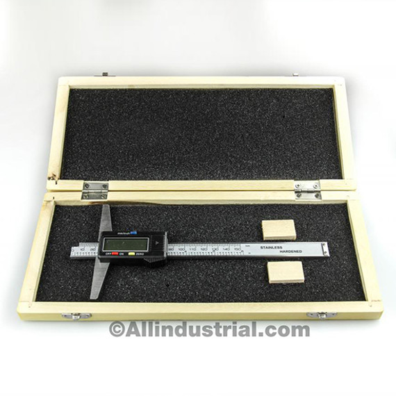 "All Industrial 51150 | 0-6"" Electronic Depth Gage 4"" Base 0.0005"" Resolution Digital Gage Spc Output"