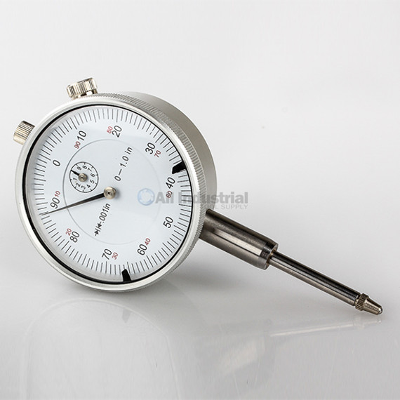 "All Industrial 52000 | Triton 1"" Dial Indicator 0.001"" Graduation Travel Lug Back White Face"