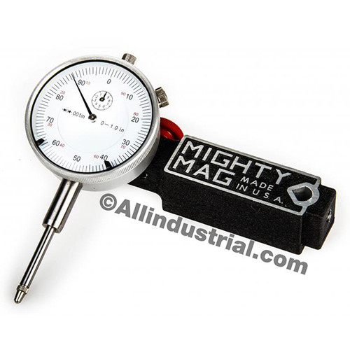 Dial Indicator Accessories : Mighty mag mig set quot dial indicator combo
