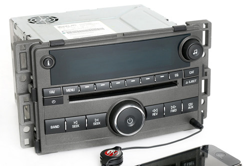 chevy hhr 2006 2008 gray radio am fm cd player w auxiliary