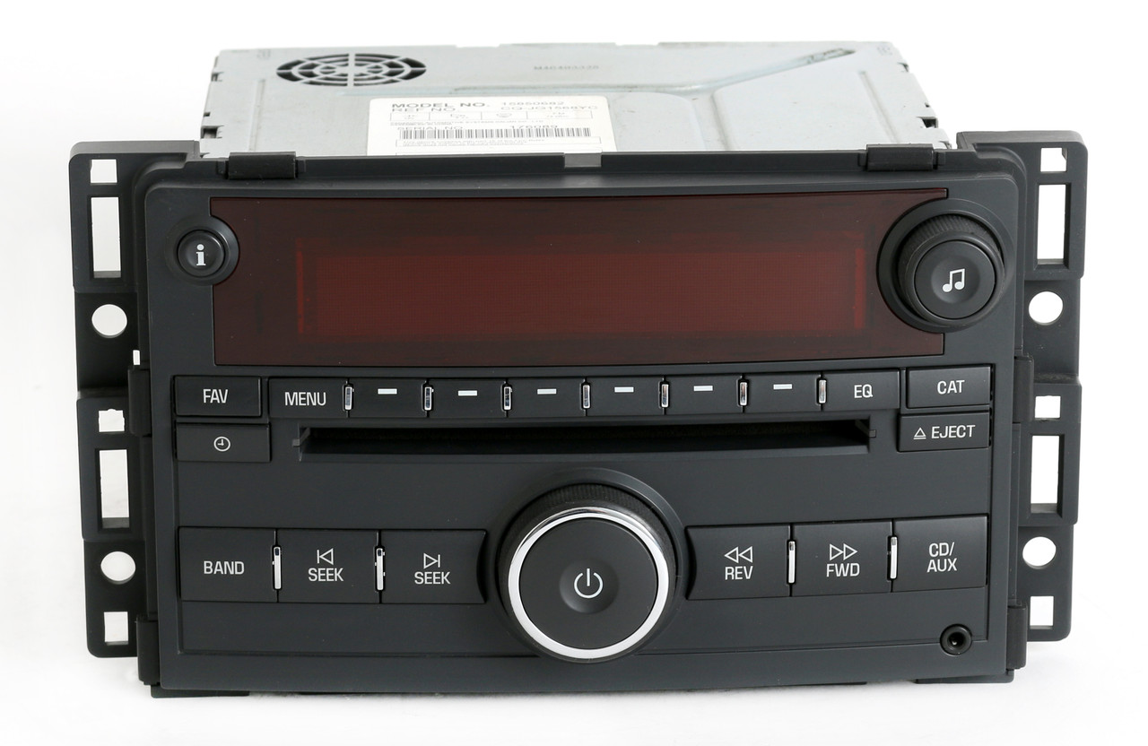 saturn ion 2006 2007 vue radio am fm mp3 cd player w aux. Black Bedroom Furniture Sets. Home Design Ideas
