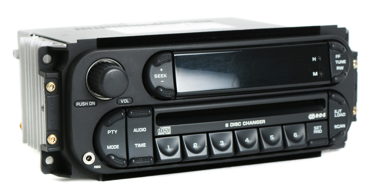 20022007 Chrysler Jeep Dodge Radio AM FM 6 Disc CD iPod Aux In