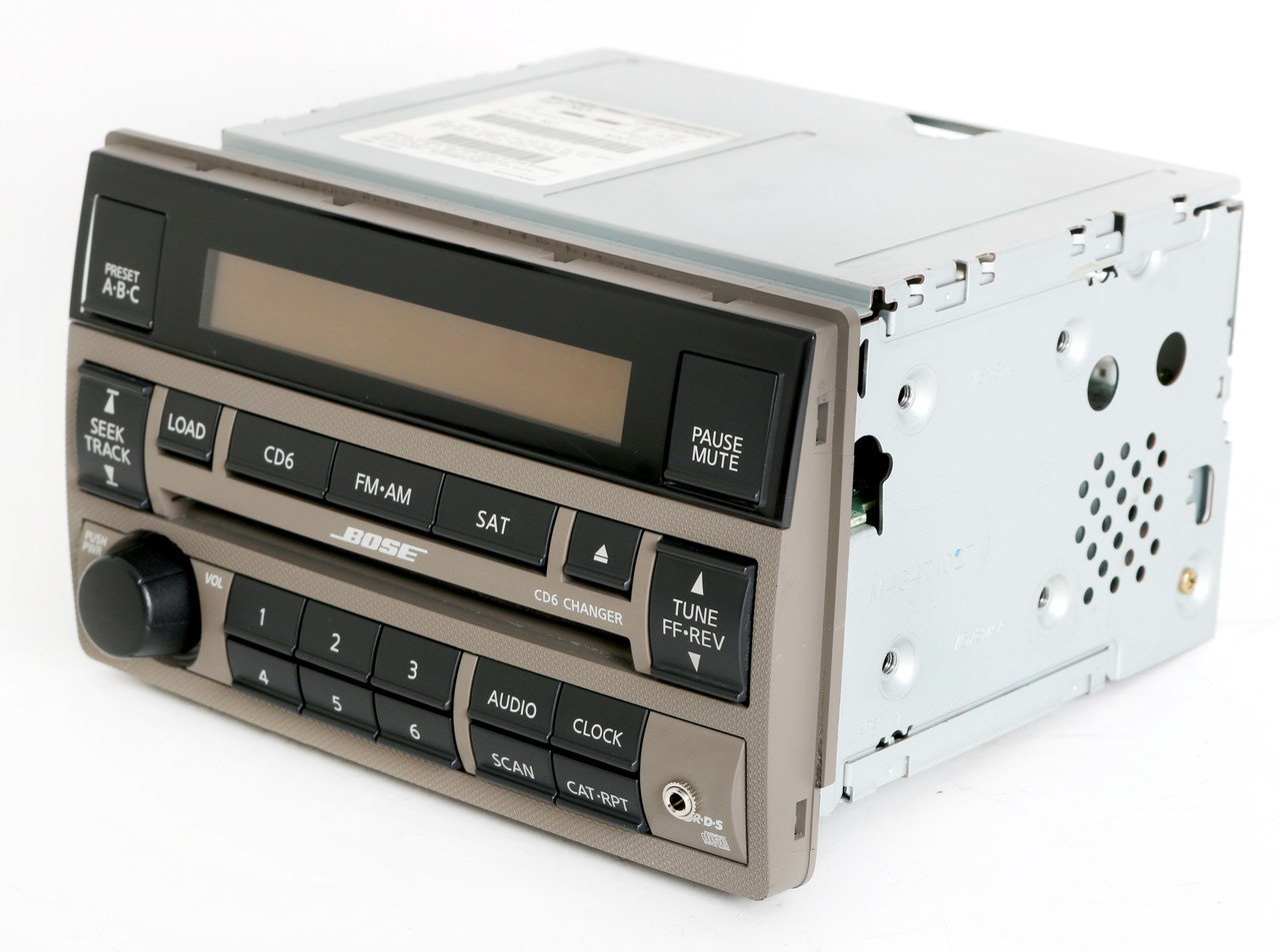 2005-2006 Nissan Altima Tan Bose Radio Am Fm 6 Disc Cd Player W Auxiliary Input