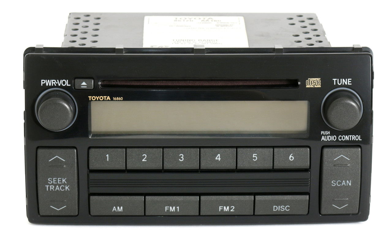 toyota camry 2005 2006 radio am fm cd player face 16860 part number 86120 aa1. Black Bedroom Furniture Sets. Home Design Ideas