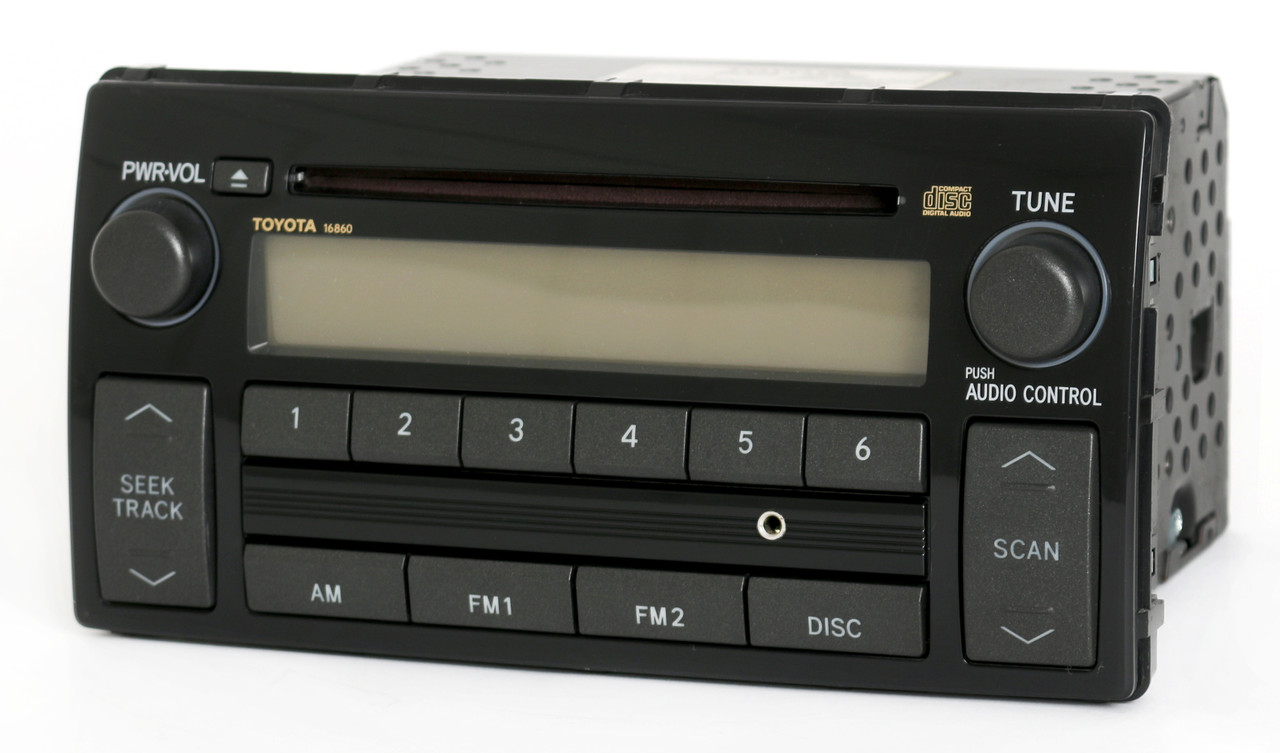 toyota camry 2005 2006 radio am fm cd player w aux input 86120 aa160 face 168. Black Bedroom Furniture Sets. Home Design Ideas