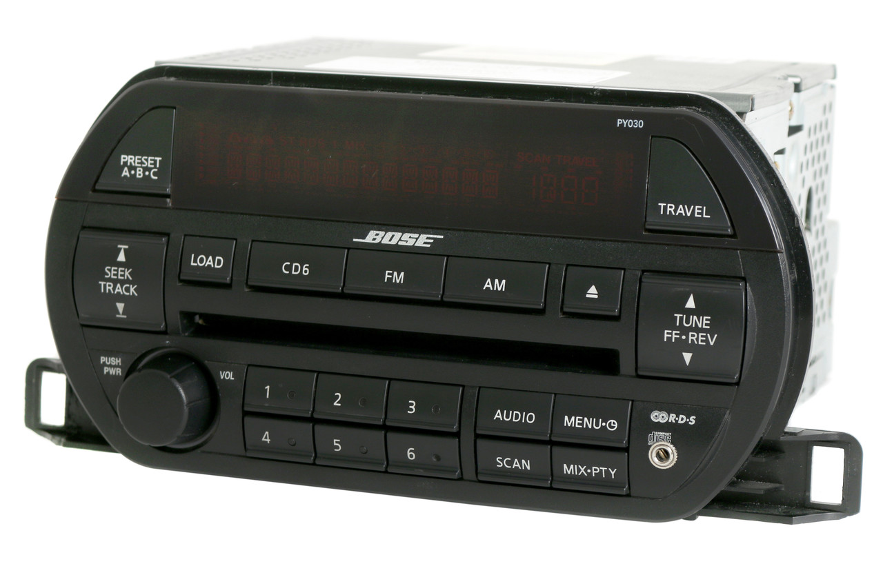 Nissan 2002-2003 Altima Bose Radio Am Fm 6 Disc Cd W Aux Input Py030 281858j200