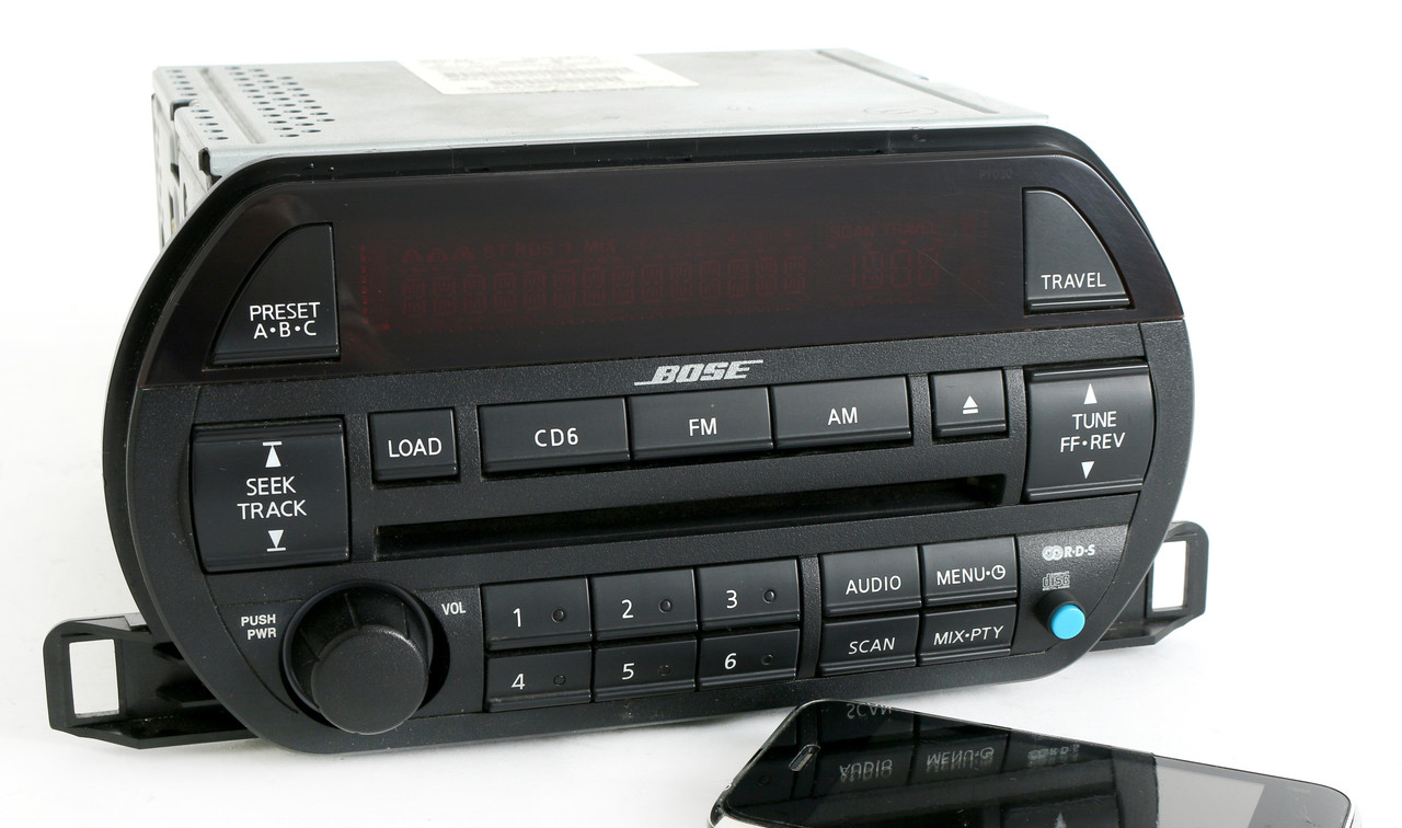Nissan Altima 02-03 Bose Radio Amfm 6 Disc Cd W Bluetooth Music Py030 281858j200