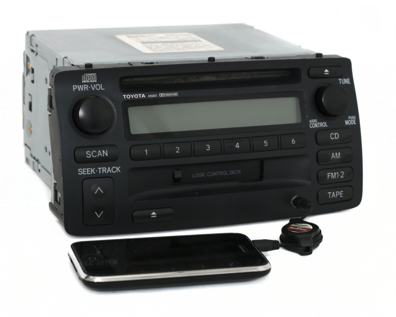 03 04 toyota corolla radio am fm cd cassette w aux input. Black Bedroom Furniture Sets. Home Design Ideas