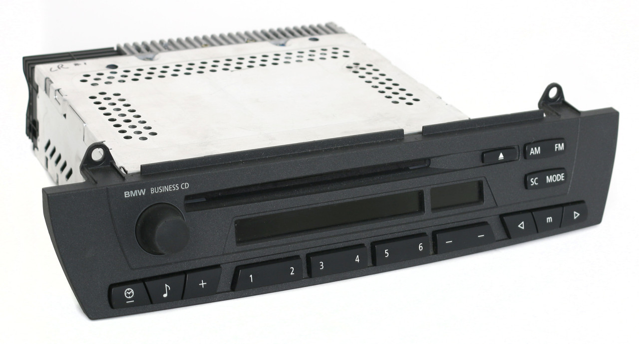 bmw   fm radio business cd player part  code required  factory radio