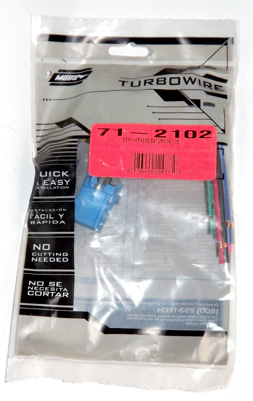 2004 Saturn Ion Wire Colors Library Of Wiring Diagrams 2007 Harness Metra Turbowire Oem For Vue Quad Coupe