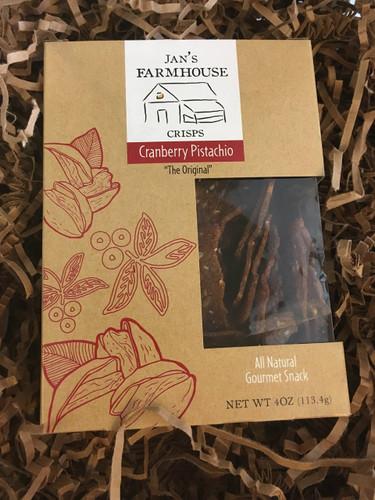 Jan's Farmhouse Cranberry Pistachio Crisps