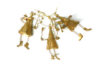 Santa Hangers Gold - Set Of 3