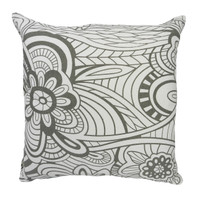 Raro Canvas Cushion Grey and White (Filled)