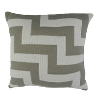 Geo Pulse Knitted Cushion Mocha