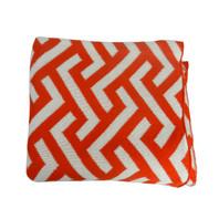 Geo Zima Knitted Throw Orange