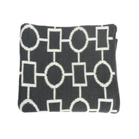 Geo Flow Knitted Throw Grey and White