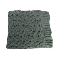Cable Knit Throw Grey