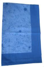 Star Marble Table Cloth Blue 140X220cm