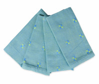 Set of 4 Hibiscus Blue and Green Napkins