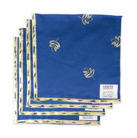 Organdy Gold Leaf and Blue Napkin