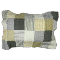Tribecca Stripe Patch Pillowcase