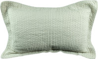 Taupe cosmodot pillowcase quilted
