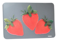 Clear Placemat Strawberry Theme S/6